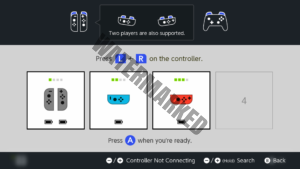 The different types of Joy-Con pairings. Two controllers can be used at once as a single controller unit, or played separately sideways.