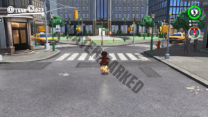 Mario riding a scooter on Super Mario Odyssey. The Jon-Con's HD Rumble mimic the scooter's engine.