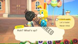 Zipper asking the player what they want.