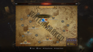 Act I Adventure Map, showing the event's location.
