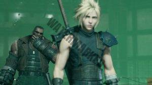 Barret beams with delight as Cloud sets a bomb.