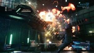 Barret defeating a Sentry Ray with his unique ability: Overcharge.