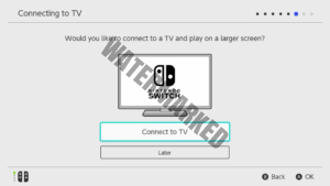 A TV Setup screen on the Switch.