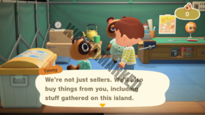 Timmy explaining he both buys and sells to players.