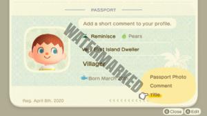 The Passport app of the NookPhone.